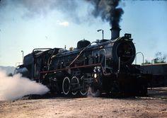 SAR Steam Loco No at George Station, Wilderness, South Africa. South African Railways, Steam Engine, Steam Locomotive, Wilderness, Trains, Engineering, Smoke, Steel, Vehicles