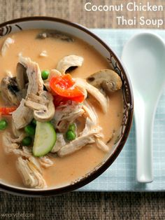 Coconut Chicken Thai Soup - This flavorful soup is just right for a quick dinner!