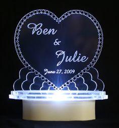 Heart Diamond Light Cake Top