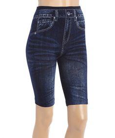 Love this Indigo Whiskered Bermuda Shorts on #zulily! #zulilyfinds