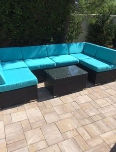 beautiful outdoor patio wicker furniture deep seating 7pc couch