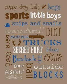 Boy and Girl printables!!! - Not JUST A Housewife