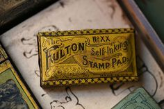 Fulton Self-Inking Stamp Pad by the snail and the cyclops - bashooka.com (typography)