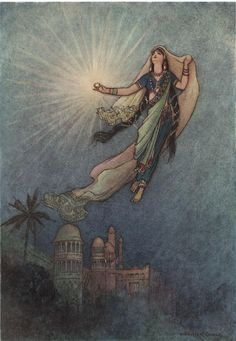 She Took Up the Jewel in Her Hand by Warwick Goble Wall Decal