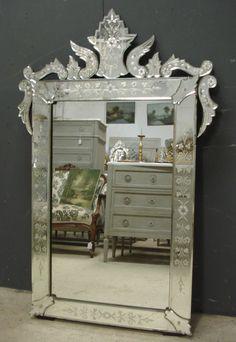 19th Century Antique Venetian mirror from www.jasperjacks.com