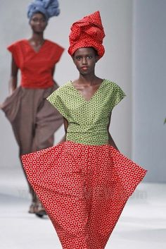 "afrikani: "" ShweShwe - a much loved fabric made in South Africa, which has its roots in traditional indigo cloth, used by French designer Agnès B in her 2014 Spring-Summer collection. For history see. African Inspired Fashion, African Print Fashion, Africa Fashion, Fashion Prints, African Prints, African Attire, African Wear, African Dress, African Style"