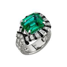 CARTIER. Ring, Zambian Emerald and diamonds.