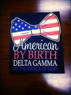 American Theme Greek Letters