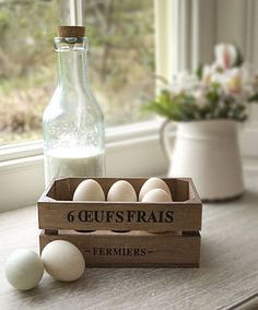 French country farmhouse: Vintage Style French Egg Crate by Dibor
