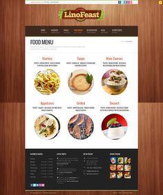 LinoFeast - Restaurant Responsive Wordpress Theme - #wordpress #theme #template #responsive #design #webdesign #portfolio #food