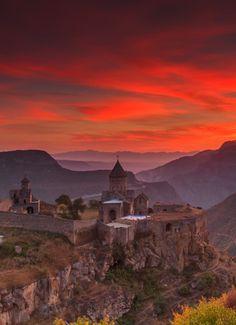 Tatev monastery at dawn by Anton Petrus (Armenia)✨