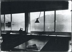 "Le Corbusier, Untitled Photograph of the Interior of his ""Villa Le Lac"", Looking out Toward Lake Geneva and the Swiss Alps, (1925)"