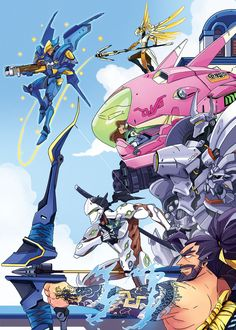 """falldogs: """" a team to get shit done with despite what this picture suggests i main support class of the time Mercy is my main girl """" Overwatch Comic, Overwatch Fan Art, Paladins Overwatch, Overwatch Drawings, Video Game Art, Video Games, Steven Universe, Overwatch Community, Overwatch Wallpapers"""