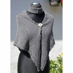 XXL Schulter Tuch mit Perlen Halstuch Schal Überwurf Stola Damen weiß pink grau