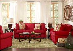 Picture Of Cindy Crawford Home Bellingham Cardinal 7 Pc Living Room From Sets Furniture