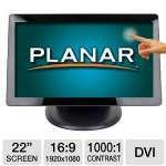 "$299.99  Planar PT2285PW 22"" Touchscreen Monitor"