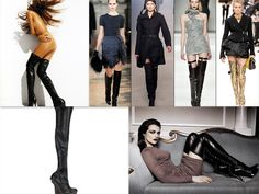 Thigh high boots! They've been on every catwalk from Chloe, to Stella McCartney,Alaia, Stuart Weizmann and of course, Christian Louboutin...Nothing is sexier that those boots and..nothing else!