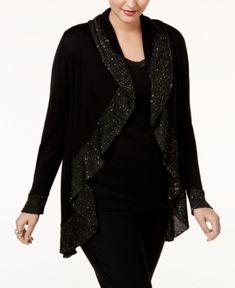 Isaac Mizrahi Live! Special Edition Rose Print Sequin Cardigan ...