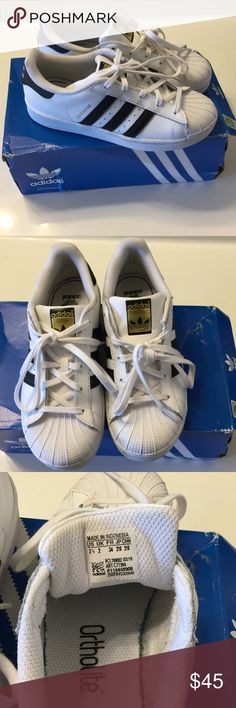 Kids Superstar ll Adidas Worn once....like new condition adidas Shoes Sneakers
