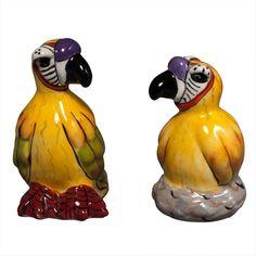 Safari Parrots Salt And Pepper Shakers