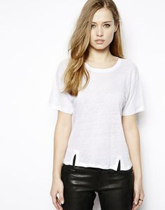 Whistles T-Shirt with Split Hem
