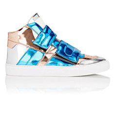 Double-Strap Mid-Top Sneakers