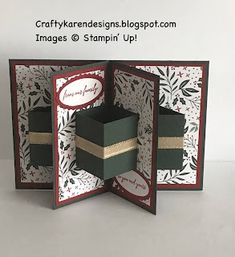 Folded Cards, Fancy Fold Cards, Illusions, Sunday, Crafty, Stars, Christmas, Stampin Up, About Uk