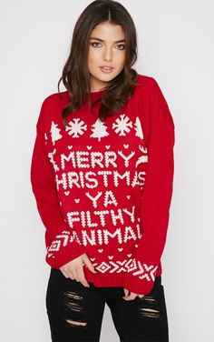 PRETTYLITTLETHING Filthy Animal Christmas Jumper Buy Cheap For Cheap Cheap Recommend BDYfw