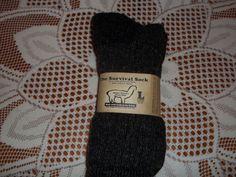 "Size Medium Charcoal Alpaca /""Survival Socks/"" 3 Pair Made in USA"