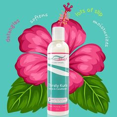 """Made from Hibiscus, Honey and Aloe Vera! Thirsty Kurls Leave-in Conditioner detangles on contact, softens, provides lots of slip and moisturizes. #KurleeBelle 🌺🍯🌱  Now available at www.kurleebelle.com, Amazon.com, Your local #Walmart in Florida, Georgia and Texas or """"Find A Store Near You"""" (located in the top right hand corner of our website.) Also in stores NOW throughout the USA, The Bahamas, Nigeria, Australia, Cayman Islands, Trinidad and Tobago, Barbados, Jamaica, Bermuda, Turks and…"""