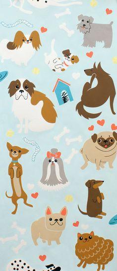 Doggone Dog Dogs Fabric Alexander Henry by AllegroFabrics on Etsy