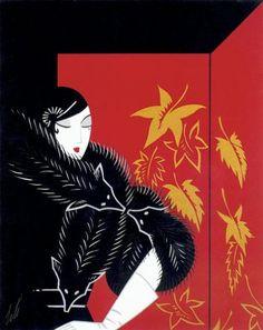 """Furs"" HUGE Art Deco Print by Erte: Amazon.co.uk: Kitchen & Home"