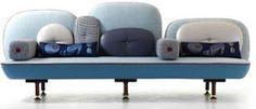 blue sofa !