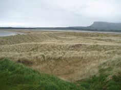 Rosses Point designed by legendary Harry Golt. Dunes and behind the Benbulben mountain Golf Tour, Donegal, Album, West Coast, Ireland, Country Roads, Tours, Mountain, Travel