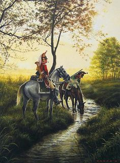 NAP- France: French 1st Dragoons, Trumpeter & Dragoon, by Dan Nance.