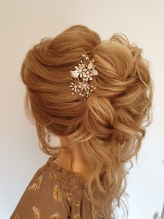 A romantic curly hair up #hairupideas #bridalhairup #ontrend #curlyhairup #halfuphalfdown #bridetobe #essexbridalhair