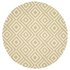 Hand-hooked Indoor/ Outdoor Capri Beige Rug (7'10 Round) | Overstock.com Shopping - Great Deals on Alexander Home Round/Oval/Square