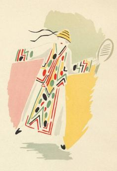 """Sonia Delaunay, 1923-4, """"Ses Peintures, Ses Objets, Ses Tissus Simultanés, Ses Modes"""", Librarie des Arts Decoratifs, Paris, Pochoir."""