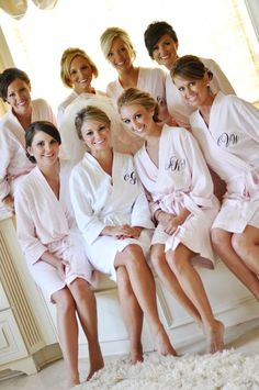 Bridesmaid Solid Color Waffle Robes-Available Personalization
