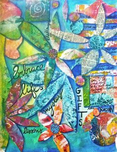 Jessica Sporn Designs: Looking to 2013 Smash Book, Pretty Art, Creative Art, Mixed Media, My Arts, Scrapbook, Projects, Art Journaling, Painting