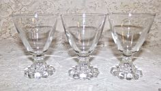 Vintage Boopie Bubble Cocktail Cordial Glasses Set of 3 Anchor Hocking  #AnchorHocking #CordialGlasses