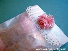 Glassine Pom Pom Wrappery Bag