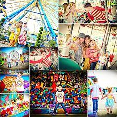 Carnival Photography, Fair Photography, Photography Mini Sessions, Photo Sessions, Carnival Photo Shoots, Kids Amusement Parks, Fair Pictures, Summer Shots, Kids Carnival