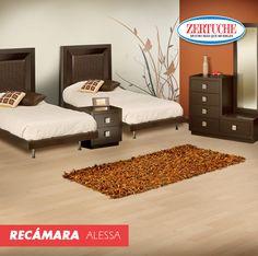 """Recámara Individual """"Alessa"""" #Decoracion #Muebles #Habitacion #Hogar"""