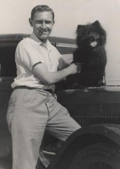Herbert Edward 'Kenny' Kenmuir with chow-chow- Vintage photos 012 by Cairlinn, via Flickr