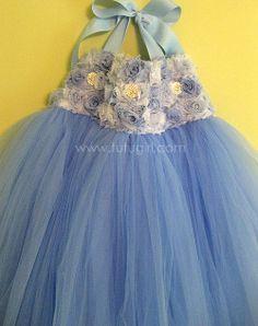 BLUE tutu dress Flower girl tutu dress Blue Toddler by TutuGirl, $89.99