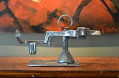 Embrace by Mike Wilkins is created from a collection of salvaged, reclaimed, and upcycled scrap metal.