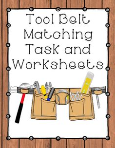 Tool Belt is a product that includes a matching task as well as worksheets that contain images of common construction tools