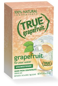 I've been a True Lemon addict for years....just tried True Grapefruit (had to order it online)...A-mazing!!!