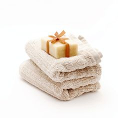 Stock Photo : Towels and soap